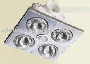 Bathroom Heater 3in1 Functions Infrared Lamp Heat Fan Light