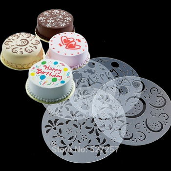 Happy Birthday Decoration Stencil Cake decoration Mould Molds Round Board Cookie Cupcake decorating making machine Plate & Happy Birthday Decoration Stencil Cake Decoration Mould Molds Round ...