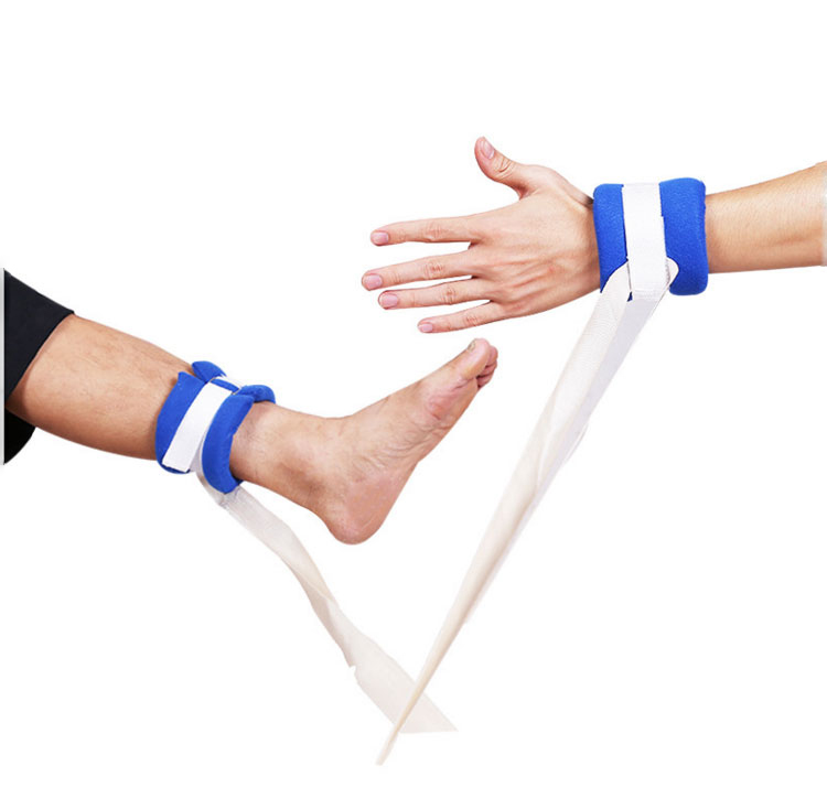 Hospital Patient Medical Limb Kendala Pergelangan Tangan Pergelangan Kaki Busa Tali Pengikat Tetap Sabuk untuk Tempat Tidur Pasien Limb Penahan Compressed Tali