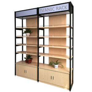 new style wooden display rack for supermarket retail