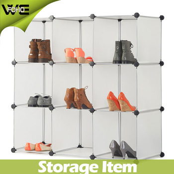 9x white interlocking plastic cube storage shelves shoe rack rh alibaba com  vonhaus 16x interlocking storage shelves