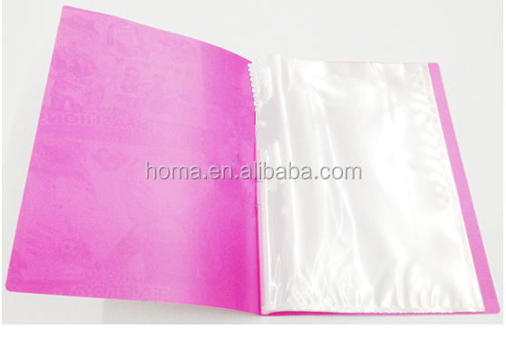 Factory clear plastic folder with sheet protectors for sale
