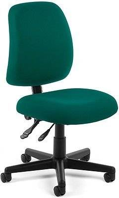 Medical Office Task Chair in Teal Fabric - Clinic Office Receptionist Chair
