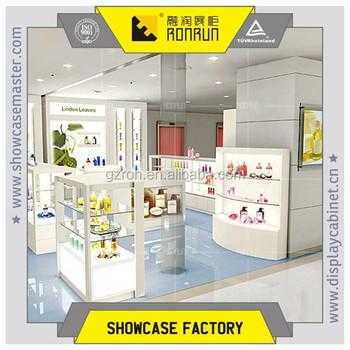 tienda de cosmticos de vidrio de alta calidad decoracion de interiores de moda de diseo