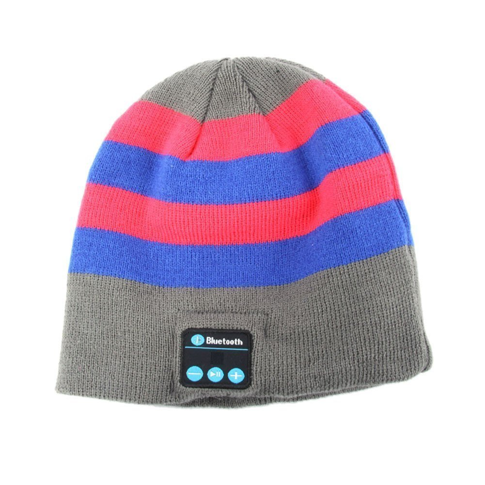 Momoday® New Arrival Bluetooth Hat Bluetooth Music Hat Knitted Winter Hat Magic Hat Hands-free Music mp3 Speaker Hat Women/Men Winter and Spring Warm Hats Beanie Hat for Smartphones