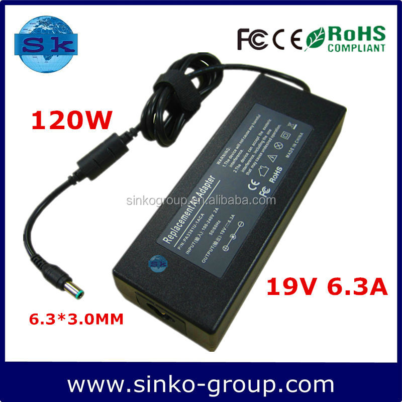 Fabriek Prijs Laptop Adapter voor Toshiba Satellite A65 Serie 19 V 6.3A 120 W