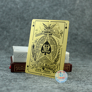 Plated Gold/Silver playing card with custom logo metal card