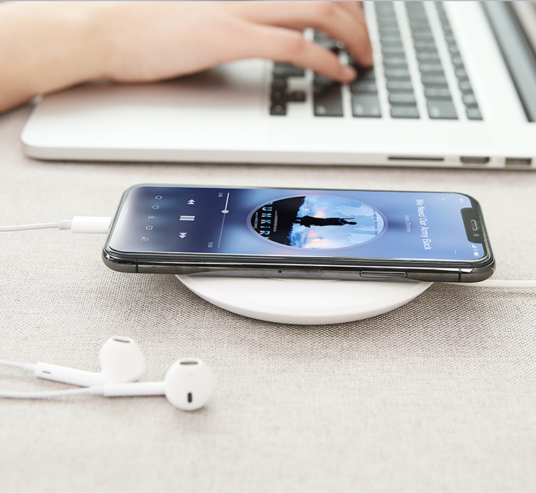 Free Shipping Wireless Charging Dock Pad FLOVEME LED Light Qi Wireless Charger