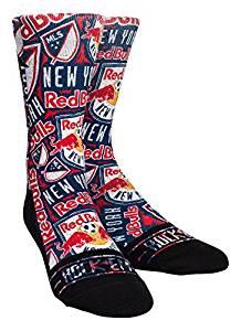 MLS New York Red Bulls Custom Athletic Crew Socks, Youth, Logo Sketch