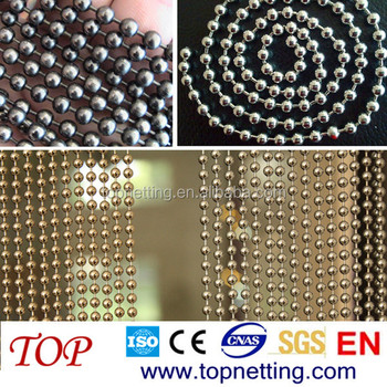 Ball Chain Gun Metal Black Beaded Curtain