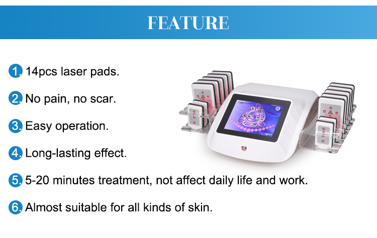Professional medical laser slimming apparatus machine for weight loss