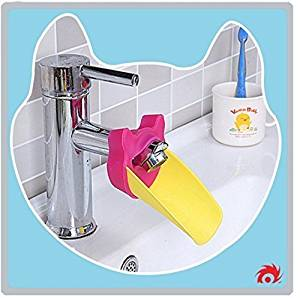 Faucet Extender: (Fuchsia) Kids Sink Extender for Children, Babies, and Toddlers- Baby Bathroom Accessory- Make Hand Washing Fun and Easy- BPA and PVC Free by Straight Edge Innovations