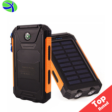 Hjl 2018 Amazon Hot 8000Mah Waterproof Portable Dual Usb Ports Portable Mini Solar Energy Power Bank For Smart Cell Phone