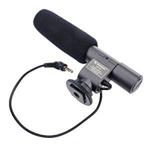 Stereo with Windscreen /& Dead Cat Muff for Canon PowerShot G3 X Shotgun Microphone