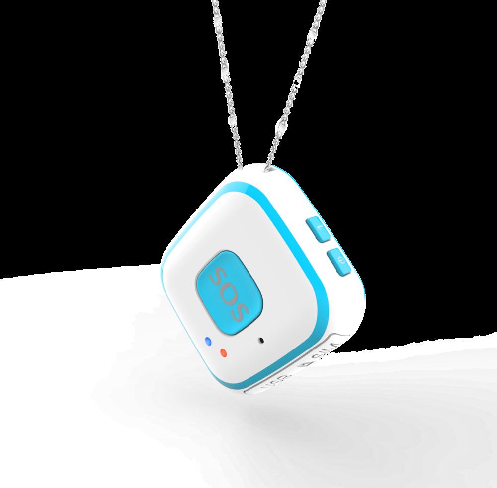 V28 SOS Alarm 2-way Voice SPY Mode Fall Alarm GPS Tracker Earrings for Kids