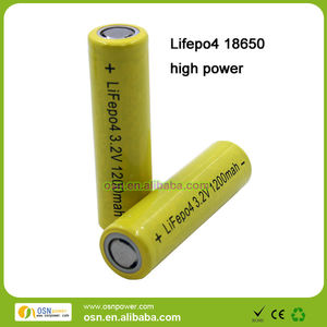 18650 3.2V 1200Mah Lifepo4 15C rechargeable cells