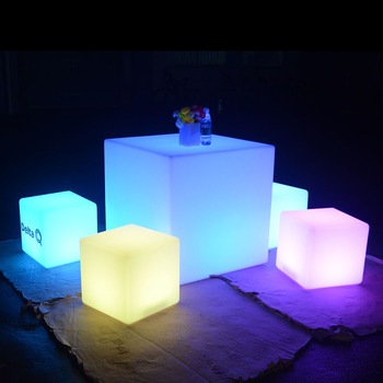 led cocktail bar table battery operated led light cube seat led furniture led table led chairs