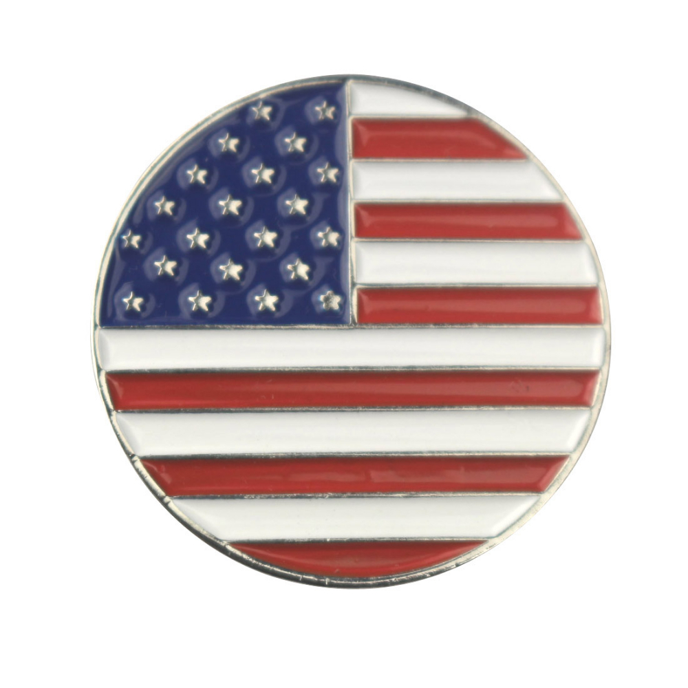 Texas State Map And United State Flag Golf Ball Marker Buy Texas - Us map with state flags