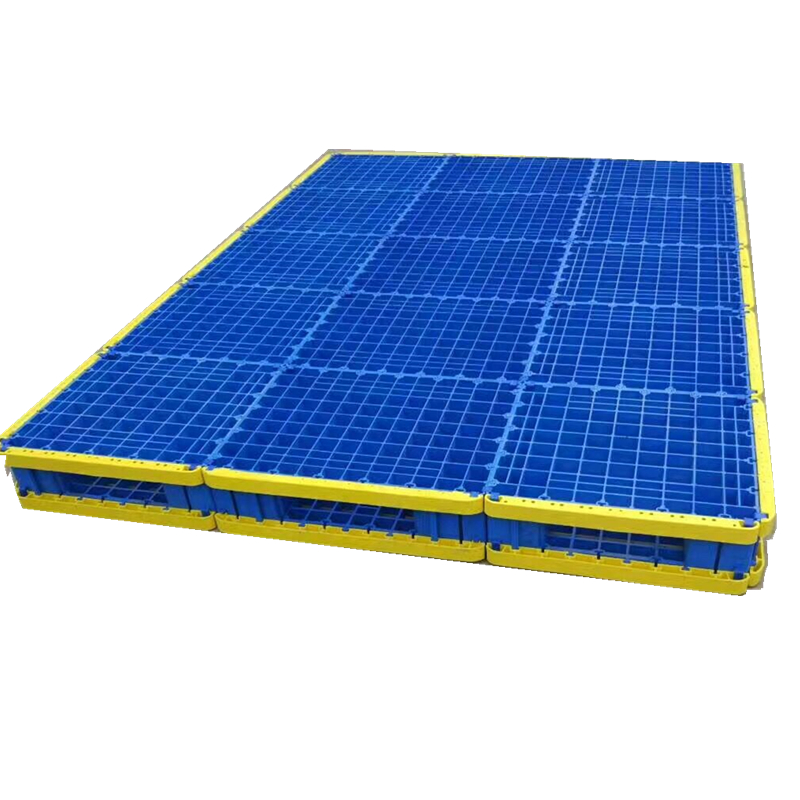 Large size high load capacity assembled plastic pallet recycled