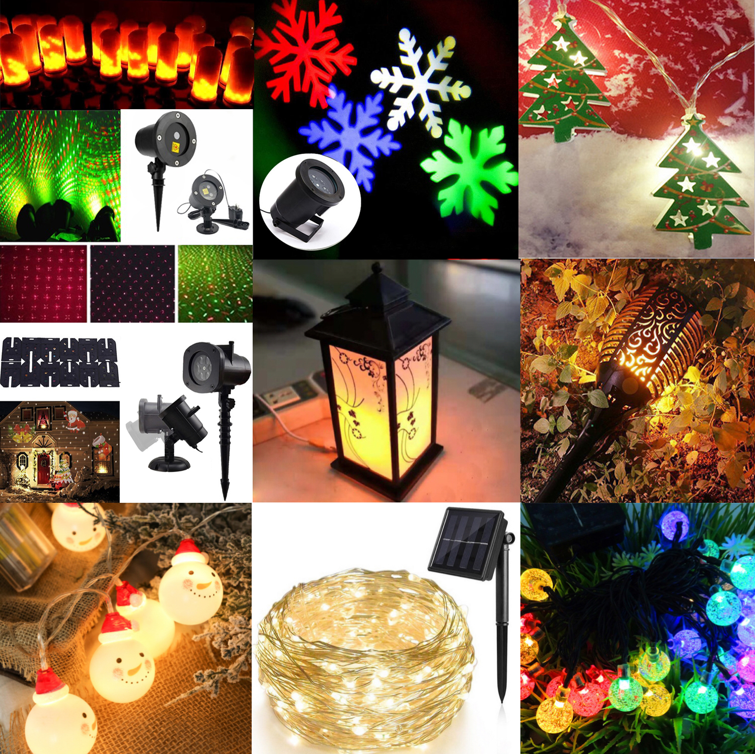 HOME Christmas lights outdoor decoration outdoor led snow projection light