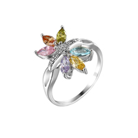 xuping flower colored stone ring fashion alibaba china fine jewelry