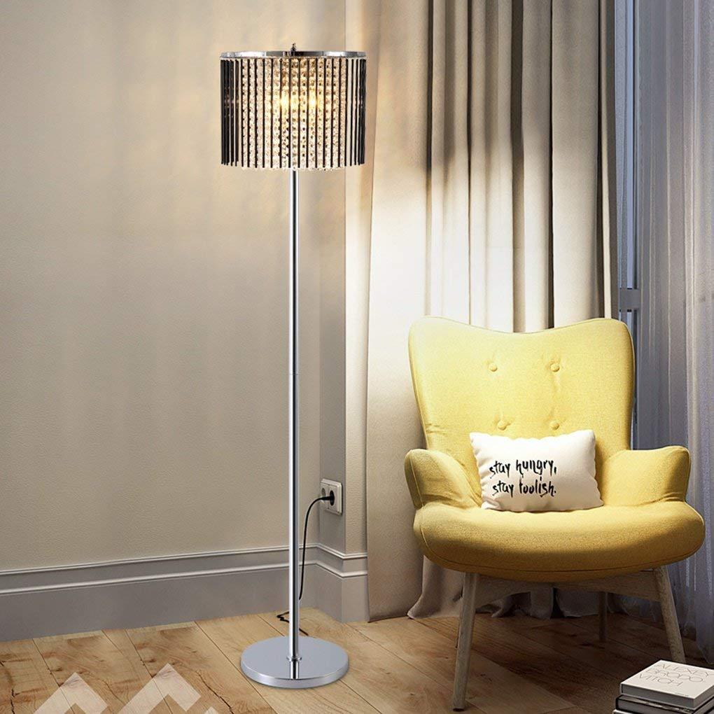 Edge To Floor lamp Creative Led Crystal Floor Lamp Modern Minimalist Living Room Bedroom Vertical Pole Floor Lamp Coffee Table Lamp Vertical Lamp