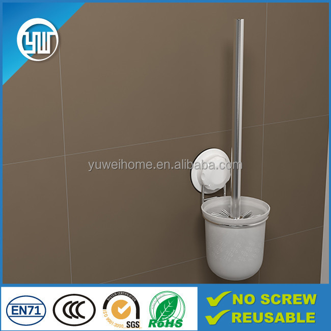 New arrival toilet cleaning set wall sticky toilet brush, long handle cleaning brush
