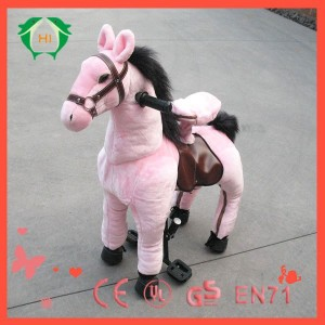 ride on horse Hi CE popular child toys plush toys bear riding a horse,kid riding plush horse toy,walking horse toy