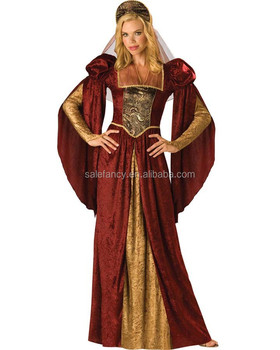 Sexy Adult Medieval Renaissance Gown Dress Costume Wedding QAWC 2532