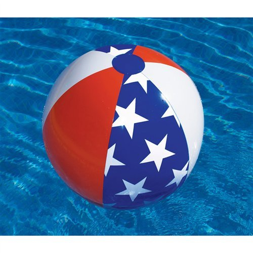 Americana 24in. Inflatable Beach Ball Pool Toy