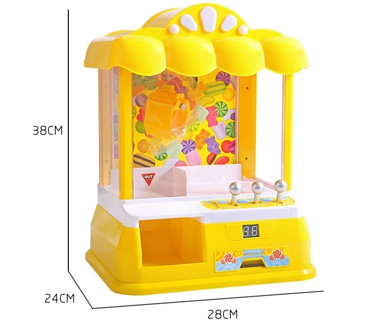 2018 New Table Game Battery Operated Arcade Claw Game Candy Machine Toy