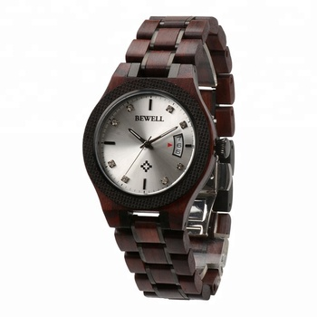 China hot-selling product natural wood wrist watches bewell brand