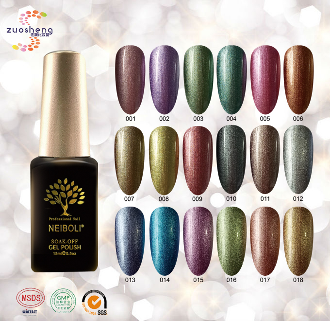 New Global Fashion Painting Metallic Gel Oderless Luster Gel Nail ...