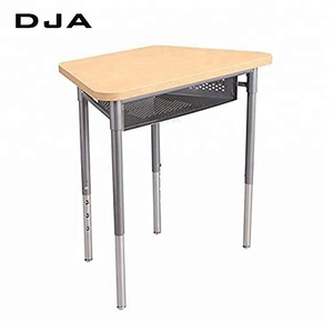 Modern primary middle high school college adjustable school desk Flexible school furniture multifunction desk and chair