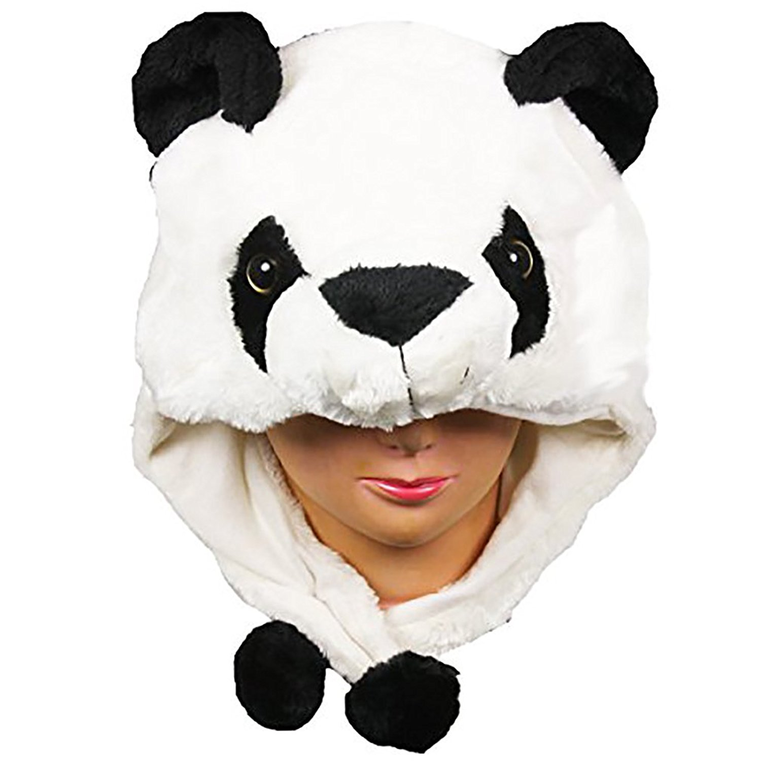 eadb059472f896 Get Quotations · Panda Bear Cute Plush Animal Winter Hat Warm Winter  Fashion (Short)