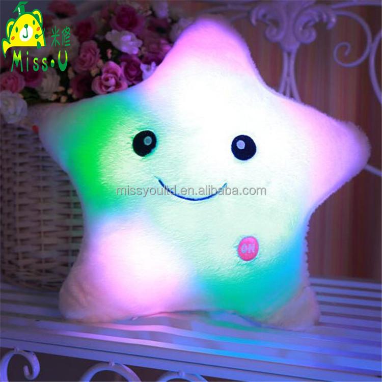 High Quality Stuffed Soft Plush LED Star Pillow Toys LED Toys Wholesale