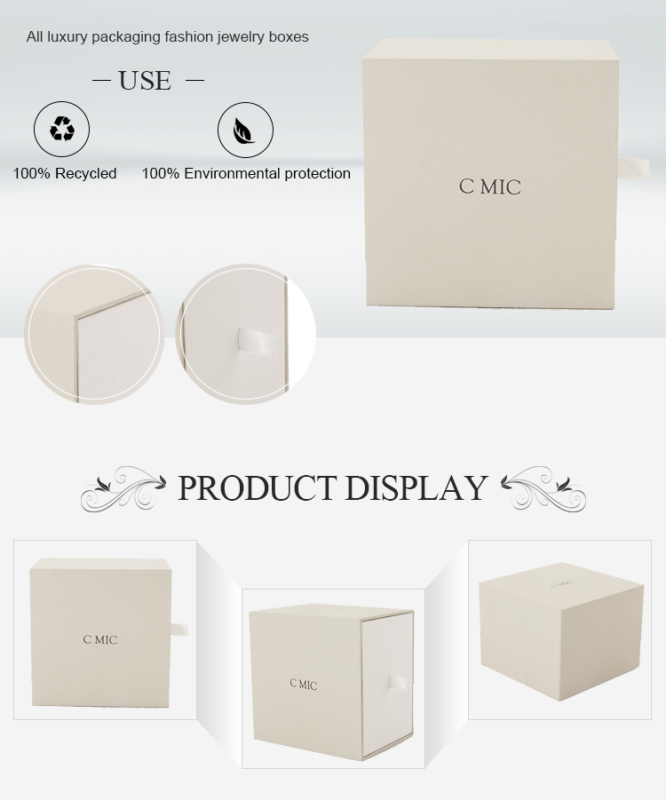 Custom Branded Luxury White Recycled Cardboard Packaging Men Blank Travel Watch Phone Case Box