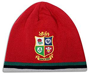 d4bcc83cbc5 Get Quotations · Canterbury British and Irish Lions Rugby Acrylic Fleece  Lined Beanie Hat - Tango Red -