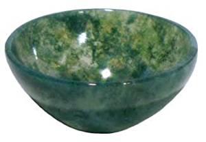 AzureGreen Small Moss Agate Devotional Bowl by AzureGreen