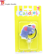 Birthday party animal shaped candle