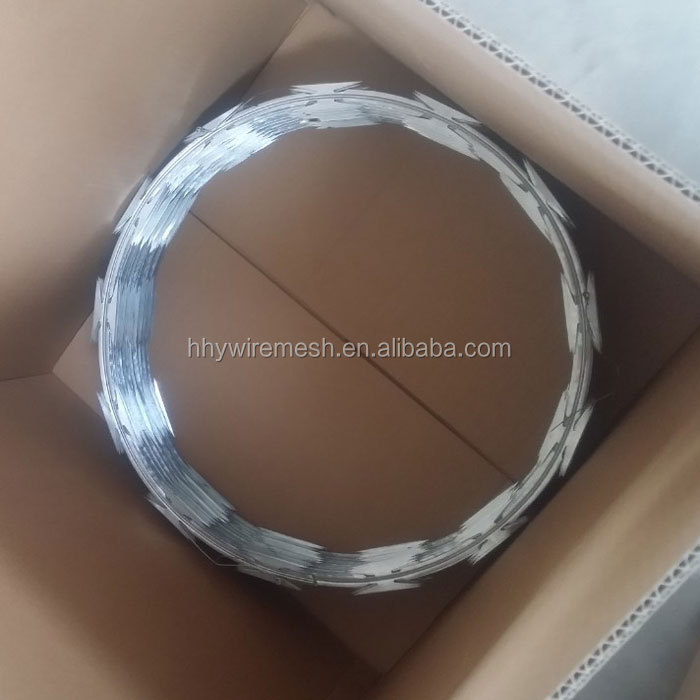 500mm hot dipped galvanized razor wire anti-climb concertina wire razor barbed wire