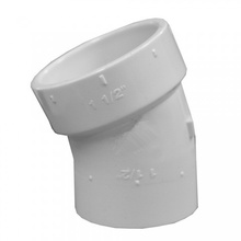 PVC Pipe Related 1.5 Inch Dia PVC DWV Fittings 22.5 Street Degree Elbow Type