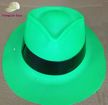 Wholesale Chlid Fedora Hat Plastic Glitter Pvc Party Hats With Band ... a809e78a33b