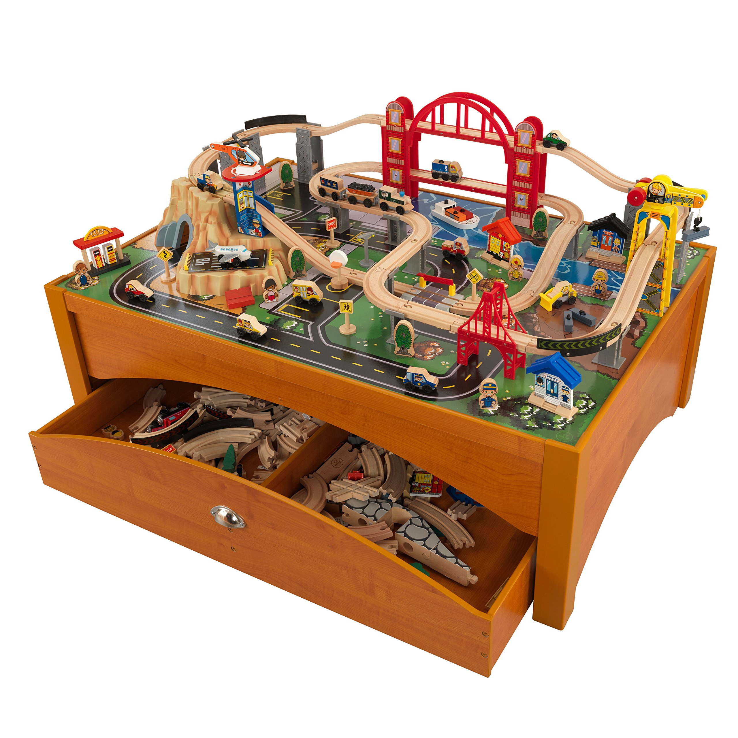 Awesome Kidkraft Espresso Train Table With Spiral Quarry Train Set ...  Awesome Kidkraft Espresso Train Table With Spiral Quarry Train Set