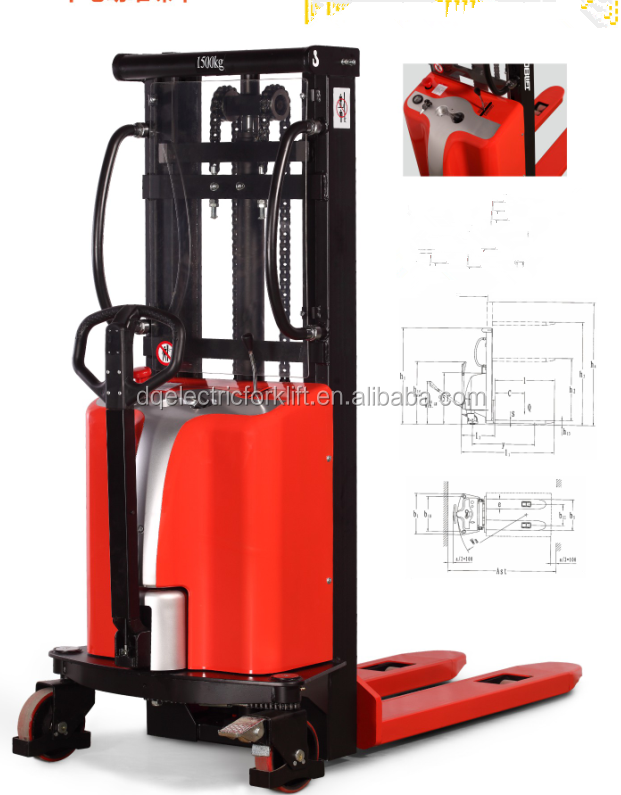 Industry used most popular fork lift semi electric pallet stacker