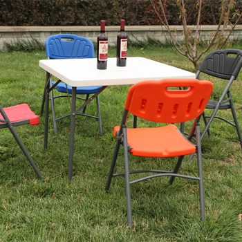 Whole Square Granite White Plastic Folding Table Chair For