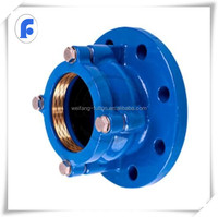 Ductile cast iron HDPE pipe fittings flange adaptor for PE pipeline DVGW powder for potable water