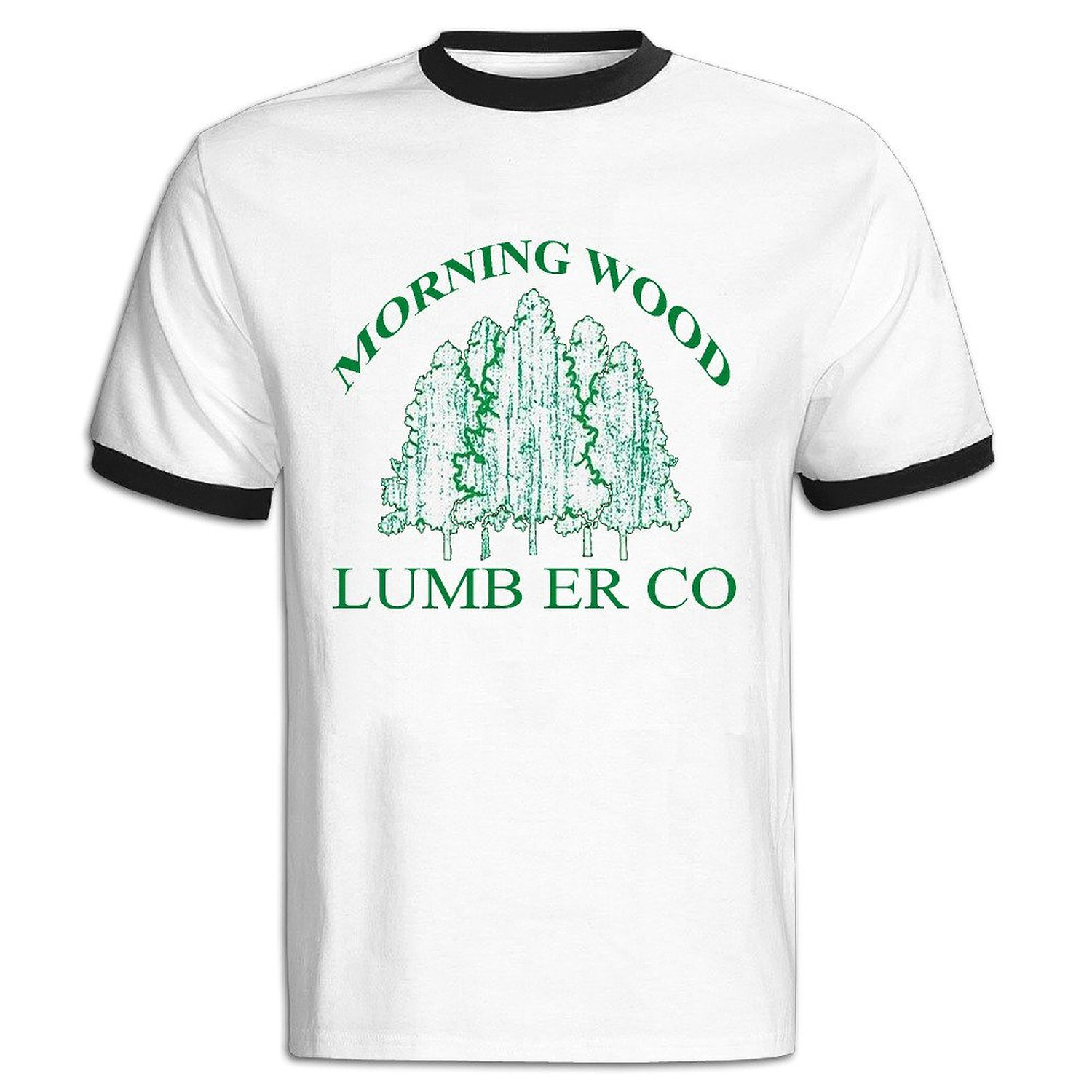 d65640eb4e Get Quotations · Morning Wood Mens Funny Offensive T Shirt - Gift For Him  Boy Baseball Shirts Black