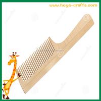 barbershop comb salon use hair comb with wood handle
