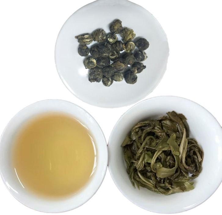 Chinese Jasmine dragon pearls green tea premium flavor organic tea jasmine pearls loose leaf tea hand rolled - 4uTea | 4uTea.com
